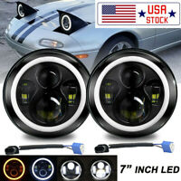 "2X 7""Inch 280W LED Headlight Round HI/LO Sealed Beam for Porsche 911 912 914 944"