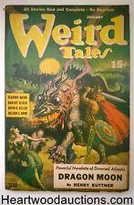 Weird Tales Jan 1941 Henry Kuttner cvr story; Quinn; Farley; Bond