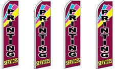 Printing Services King Size Swooper Flag Pack of 4 (Hardware Not Included)