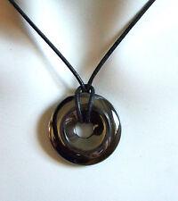 Runde Echte Edelstein-Halsketten & -Anhänger mit Hämatit und Bewusstsein