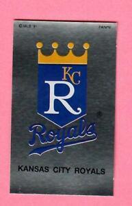 1991 Baseball PANINI Sticker # 223 KANSAS CITY ROYALS LOGO