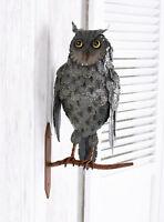 Gartendekoration Eule 50cm Vogeldeko Wandfigur Vogel Metallvogel Wandeule Uhu