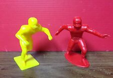 """Vintage 1969 Louis Marx & Co. Football Players Lot Of 2 - 4"""" Figures"""