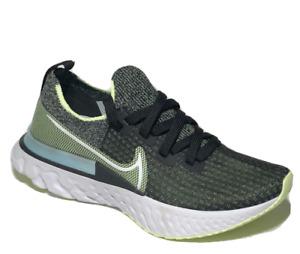 Nike React Infinity Run Flyknit Womens Running Shoes 5.5 Black Volt CD4372-006