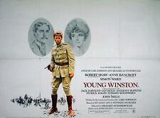 YOUNG WINSTON 1972 Simon Ward, Robert Shaw, Anne Bancroft, Jack Hawkins UK QUAD
