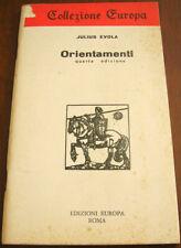 ORIENTAMENTI (QUARTA EDIZIONE) - Julius Evola - EDIZIONI EUROPA (1977)