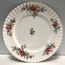"Royal Albert Moss Rose Montrose 10"" Dinner Plate England"