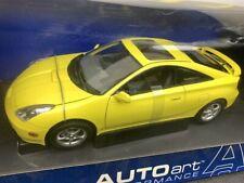 2000 TOYOTA CELICA GT-S DIE CAST MODEL 1/18 YELLOW BY AUTO ART 78723