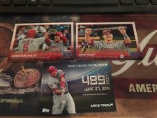 2015 Topps Update Mike Trout 3 Card Lot US213, US227 and Tape Measure TMB-5