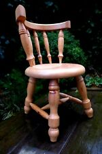 Pine chair for doll, teddy bear beautiful design playroom shop display collector