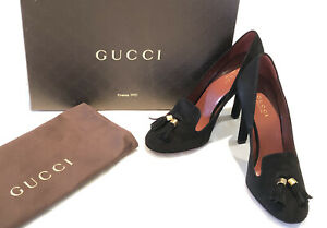 Gucci Suede Mischa Tassel Pumps (298163) size 36