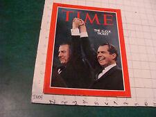 original TIME MAGAZINE: august 16, 1968 THE GOP TICKET clean issue NIXON