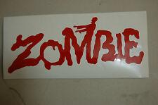 zombie text sticker Laptop window car vinyl Decal