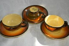 Schramberg black forest farm, mountain Germany majolika 1 of 3 cup & saucer sets
