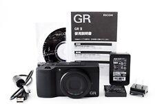 【Top Mint】RICOH GR II 16.2 MP Digital Camera Black with Many Accessory 274265