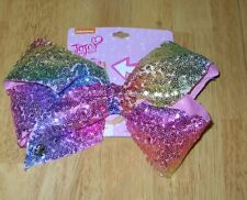 JoJo Siwa Large Hair Bow RAINBOW Signature Sequin Authentic Sparkle Dance Cheer