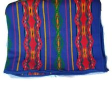 PENDLETON Reversible Blanket Native American Pattern Stripes Bands 62x68 Blue