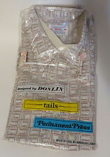 Vintage 1960s Donlin Shirt NOS Still in Package Groovy Print 16 sleeve 16.5 neck