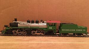 HO Mantua Weyerhauser Timber Co. 2-6-6-2 Steam Locomotive #116 Needs Work