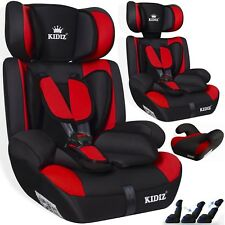Kidiz® Autokindersitz Autositz Kinderautositz 9-36 kg Gruppe 1+2+3 Sitz Rot