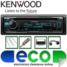 Fiat Panda 2003-2014 KENWOOD CD MP3 USB AUX Display Multi Colore KIT STEREO AUTO