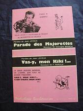 Partition Parade des Majorettes de G. Besson Vas-y mon kiki de F. Baroux 1956