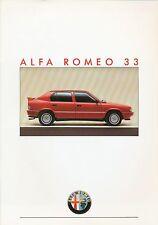 Alfa Romeo 33 Prospekt 10/86 brochure 1986 Autoprospekt Auto PKWs Italien Europa