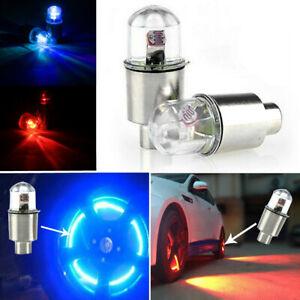 4x LED Light Car Wheel Tyre Decoration Tire Air Valve Stem Cap Lamps Bulbs