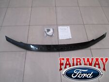 17 thru 19 F250 F350 Super Duty OEM Ford Black Lexan Hood Deflector Bug Shield