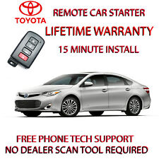 2013 2014 2015 TOYOTA AVALON REMOTE START-NO WIRE SPLICING-SMART KEY ONLY