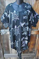 """ART TO WEAR 76 ASYMMETRIC  HEM TUNIC IN ALL NEW HONU BY MISSION CANYON,50""""B,OS!"""