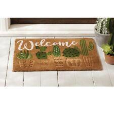 Mud Pie E0 Home Garden Woven Coir Welcome Cactus Doormat 18x30in 41200009
