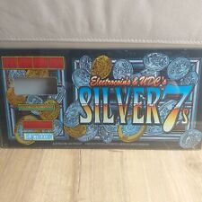 More details for electrocoin silver 7's fruit slot machine glass screen art man cave retro