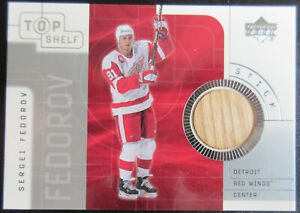 01/02 UD Top Shelf Game-Used Stick Sergei FEDOROV Detroit RED WINGS
