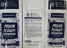 Schmidt's Moon Flower Natural Deodorant Stick 3.25OZ (3 pack). FREE SHIPPING!!!!
