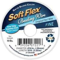 "Soft Flex Wire 21-Strand .014""X10' Silver 639336072216"
