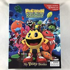 PAC-MAN Ghostly Adventures My Busy Book + 12 PVC Figures Playmat NEW Cake Topper