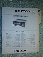 Pioneer kp-8500 service manual original repair book stereo car radio tape deck