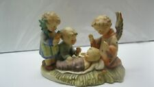 "Vintage Hummel ""Silent Night"" Figurine Candle Holder Jesus in Manager Germany"