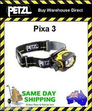 Petzl Pixa 3 LED Headlamp Light Torch Safety Camping Hiking Climbing Multi Beam