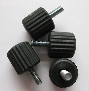 2 X Thumbscrew knobs male M4 M5 M6 Knurled camera tv jig computer saw drill