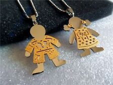 1 set of stainless steel couple pendants Cool boy and girl romantic collection