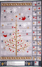 Holiday Sparkle Christmas Tree Advent Calendar Project PANEL Cotton Fabric SSI