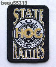 2003 MASSACHUSETTS RHODE ISLAND HARLEY DAVIDSON STATE HOG  RALLY VEST PATCH