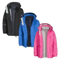 Trespass Prime II Kids Girls Boys Waterproof 3in1 Jacket with Fleece