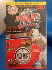 2005 TOPPS BASEBALL - OPENING DAY RETAIL BOX (9) PACKS / SEALED ! LQQK !