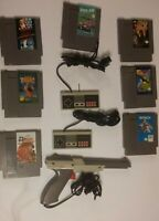 Nintendo NES Lot of 7 games, 2 controllers, and 1 Zapper Gun