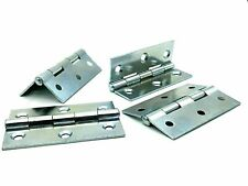 CRANKED HINGES 50mm zinc plated easy hang flush hinge caravan cupboard 400