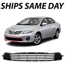 NEW Textured Black - Lower Front Grille Grill For 2011-2013 Toyota Corolla Sedan
