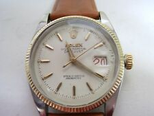 VINTAGE ROLEX  6605 OYSTER PERPETUAL DATEJUST  TWO TONE